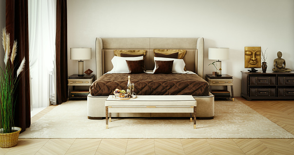 Classical Style「Classy Bedroom Interior」:スマホ壁紙(11)