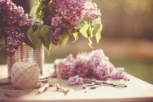 Gardening「Springtime Lilac flowers and gardening」:スマホ壁紙(4)