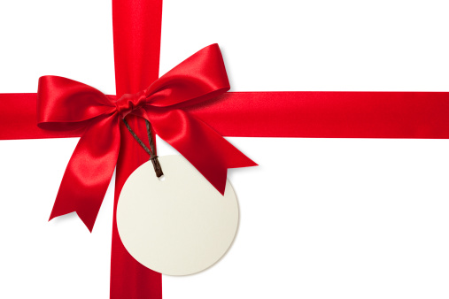 Label「Red gift bow with tag」:スマホ壁紙(14)