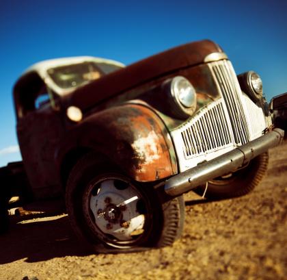 Hot Rod Car「derelict classic car」:スマホ壁紙(19)
