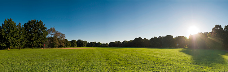 Public Park「Baseball field dawn Central Park NY」:スマホ壁紙(4)