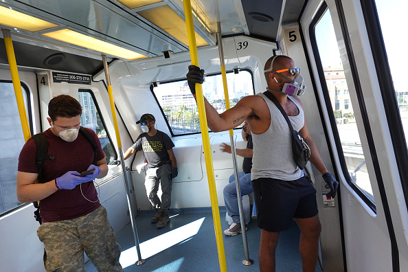 Train - Vehicle「Coronavirus Pandemic Causes Climate Of Anxiety And Changing Routines In America」:写真・画像(13)[壁紙.com]