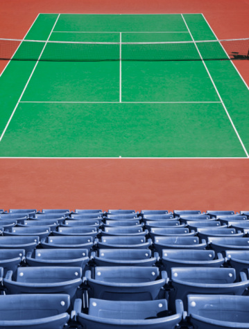 Stadium「Tennis court and spectator seats.」:スマホ壁紙(12)