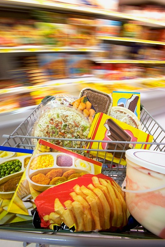 Unhealthy Eating「Frozen Food in Shopping Cart」:スマホ壁紙(7)