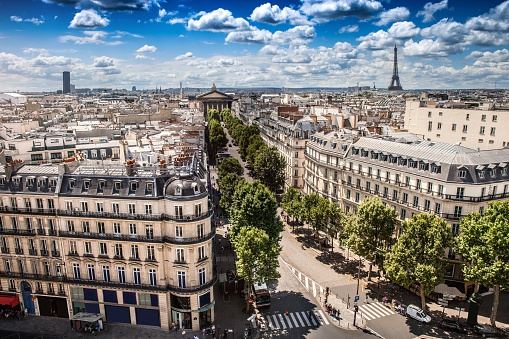 Monument「High city view of Paris during a beautiful day」:スマホ壁紙(17)