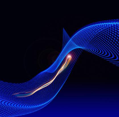 Digital Composite「Fast Communication Technology Light Trail」:スマホ壁紙(14)