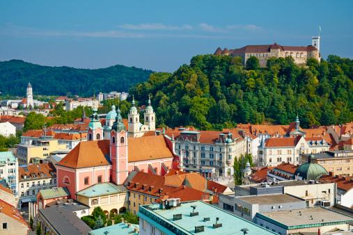 Castle「Slovenia, Ljubljana, cityscape」:スマホ壁紙(0)