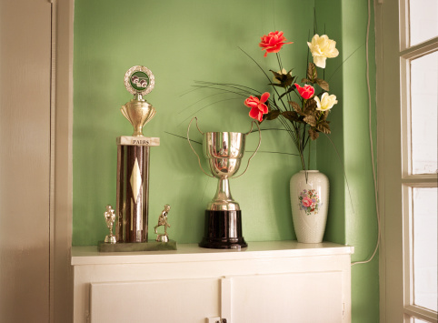 Success「Trophies and flowers in green room」:スマホ壁紙(9)