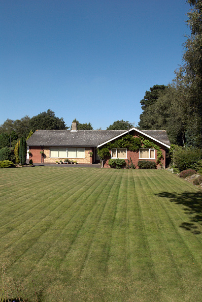 Grass「Bungalow's front lawn, Ipswich, United Kingdom」:写真・画像(1)[壁紙.com]