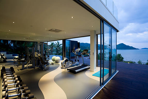 fitness gym health club luxury villa house:スマホ壁紙(壁紙.com)