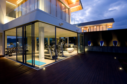 Basement「fitness gym health club luxury villa house」:スマホ壁紙(11)