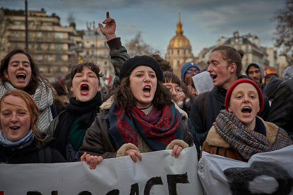 Paris - France「French Unions Take To The Streets Again In National Strike Effort」:写真・画像(11)[壁紙.com]