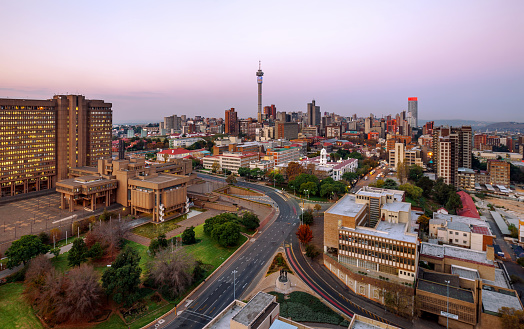 South Africa「Johannesburg Skyline with Hillbrow Tower, Gauteng Province, South Africa」:スマホ壁紙(2)