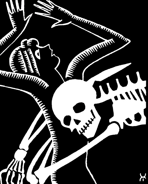 GraphicaArtis「Woman Tackled By A Skeleton」:写真・画像(4)[壁紙.com]