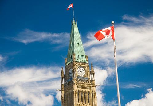 かえでの葉「Ottawa Parliament」:スマホ壁紙(0)