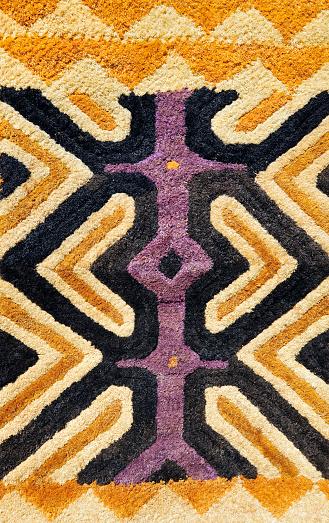 Indigenous Culture「Detail of African traditional Kasai velvet woven by Kuba tribe」:スマホ壁紙(10)