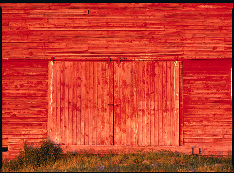 Agricultural Building「Detail of a Red Barn」:スマホ壁紙(8)