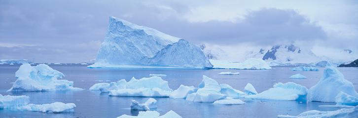 Pack Ice「Icebergs in Paradise Bay in Antarctica」:スマホ壁紙(8)