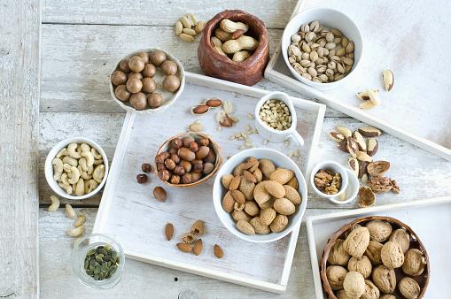 Nut - Food「Various sorts of nuts」:スマホ壁紙(7)