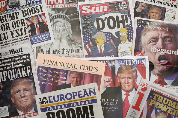 Paper「The UK Reacts To News That Donald Trump Is The New President Of The United States」:写真・画像(4)[壁紙.com]