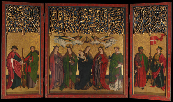 Architectural Feature「The Burg Weiler Altar Triptych (Altarpiece With The Virgin And Child And Saints)」:写真・画像(14)[壁紙.com]