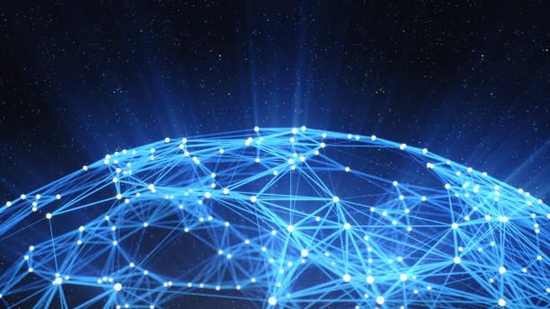 Abstract Technology Network Background:スマホ壁紙(壁紙.com)