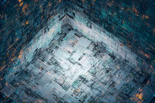 Quantum Computing「Abstract technology background image」:スマホ壁紙(7)