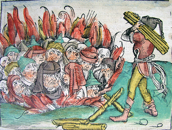 Bubonic Plague「Burning Of The Jews At Deggendorf In 1338 (From The Schedels Chronicle Of The World)」:写真・画像(14)[壁紙.com]