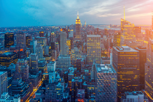 Empire State Building「New York Skyline」:スマホ壁紙(13)